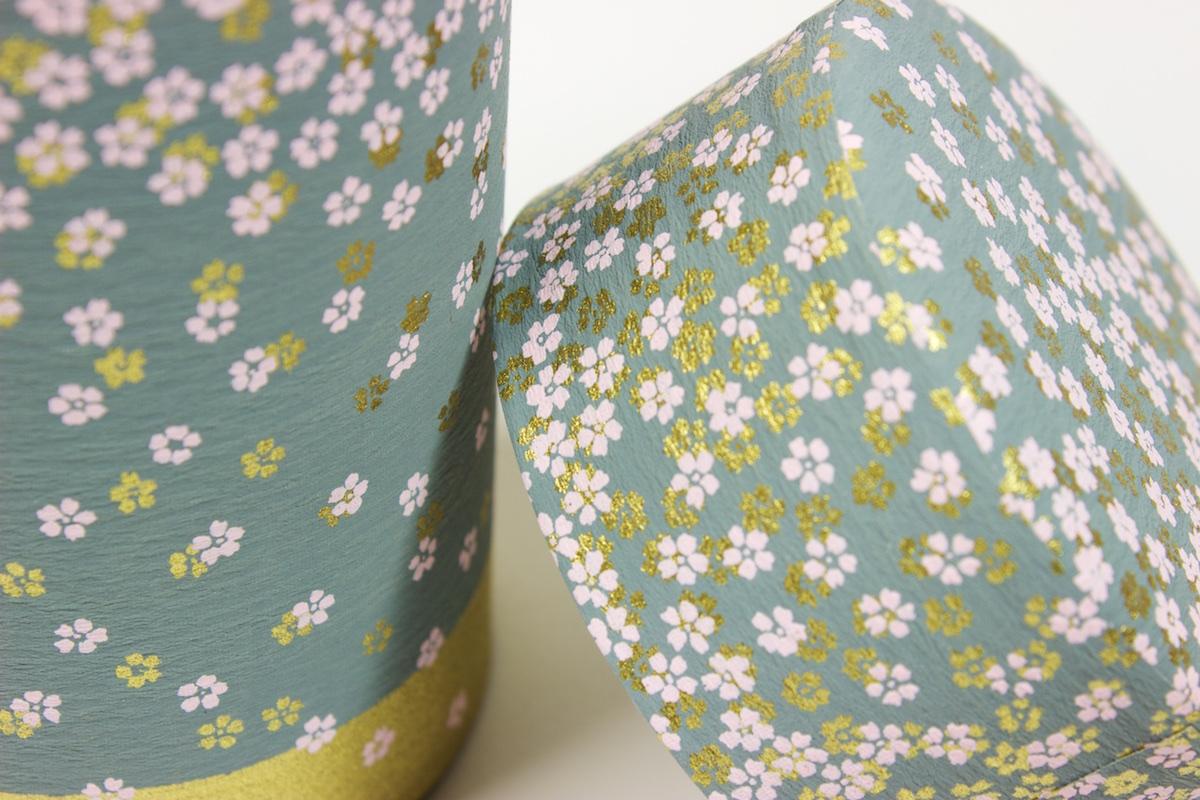 Boite à thé en papier de soie washi