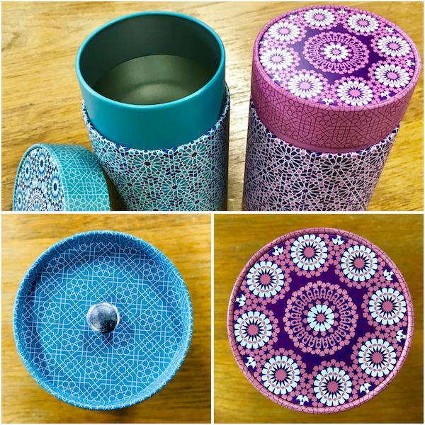 Duo de boîtes à thé cylindriques
