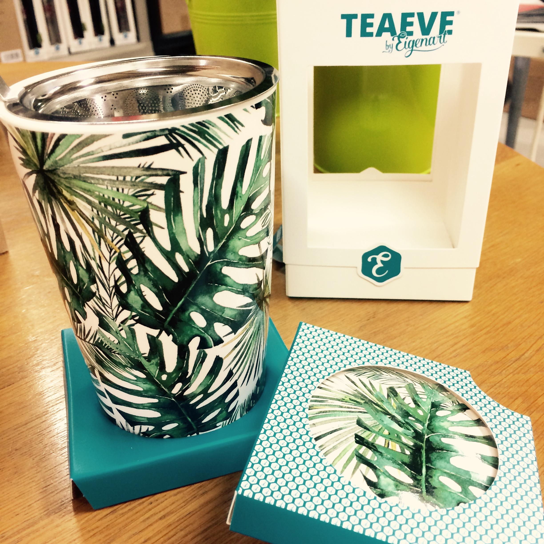 Mug à thé style jungle verte