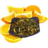 Thé vert à l'orange
