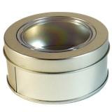 Boîte à thé cylindrique plate avec vue