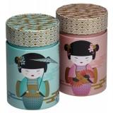 "Duo de boîtes ""Geisha"" cylindrique 150g"