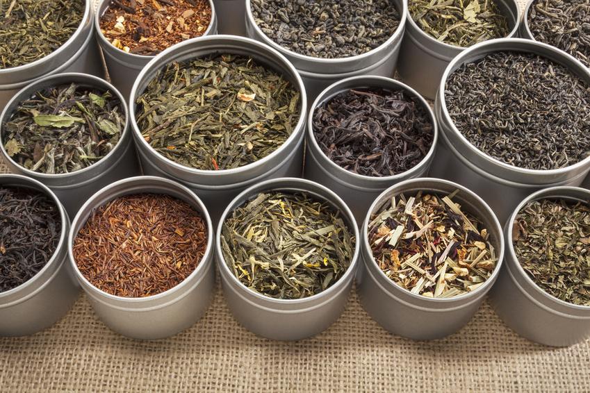 Ingrédients pour préparer du thé
