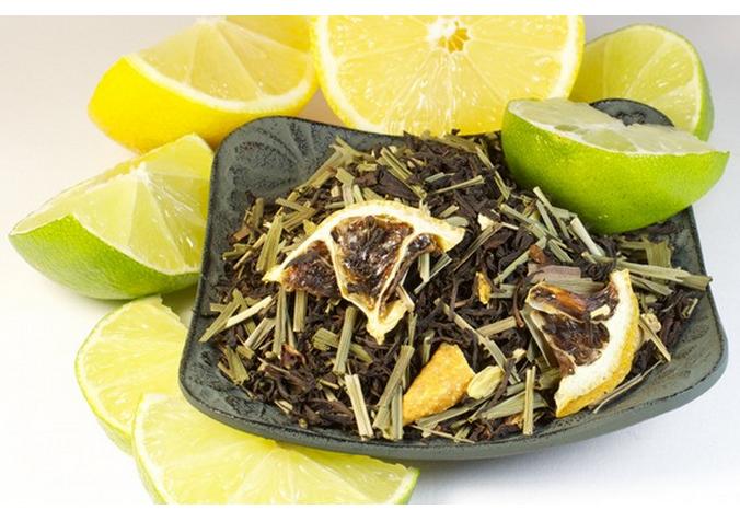 Thé parfumé au citron
