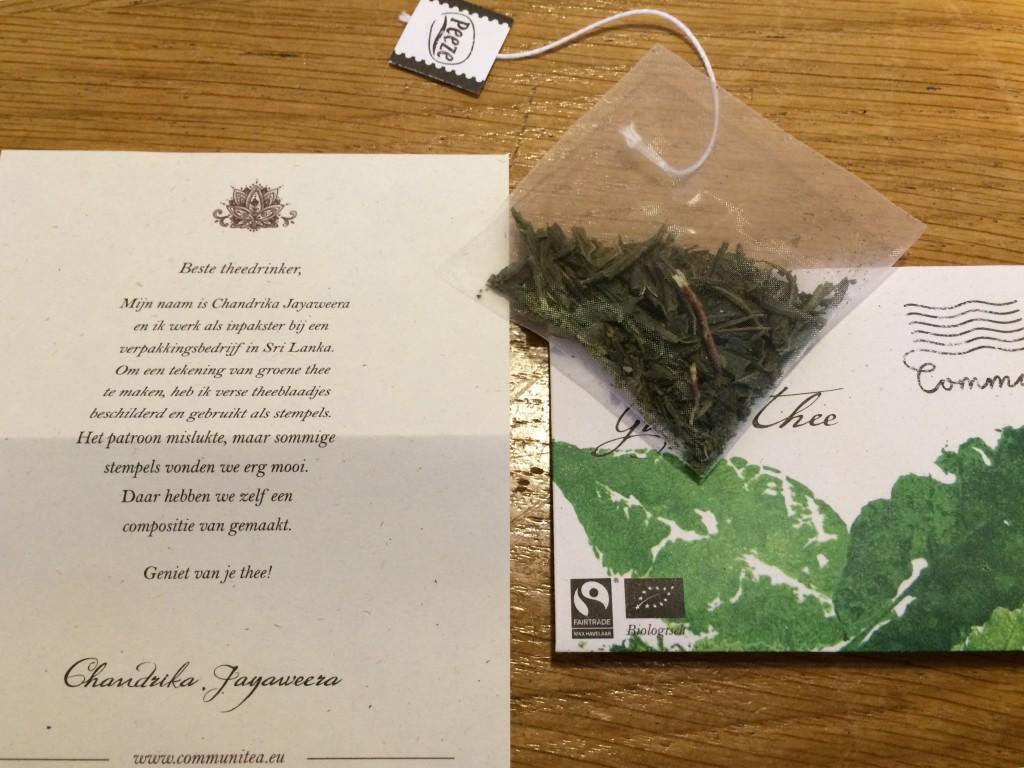Enveloppe de thé
