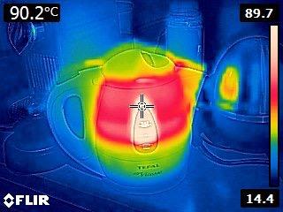 Théière pour geek avec caméra thermique