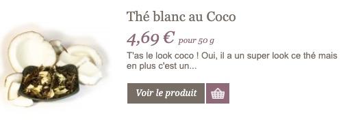 thé blanc au coco