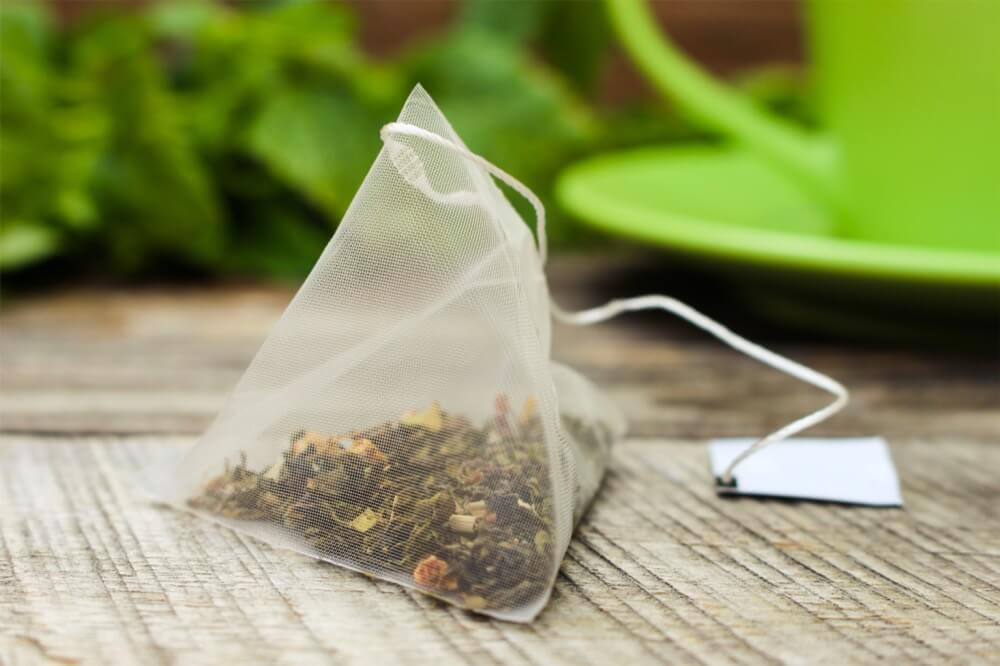 sachet de thé en nylon pyramidal