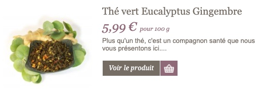Thé vert eucalyptus gingembre