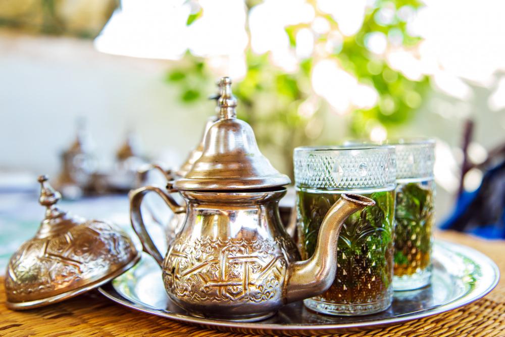 thé vert à la menthe oriental