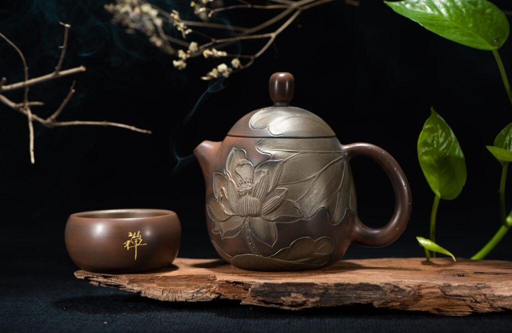 Théière thé au lotus