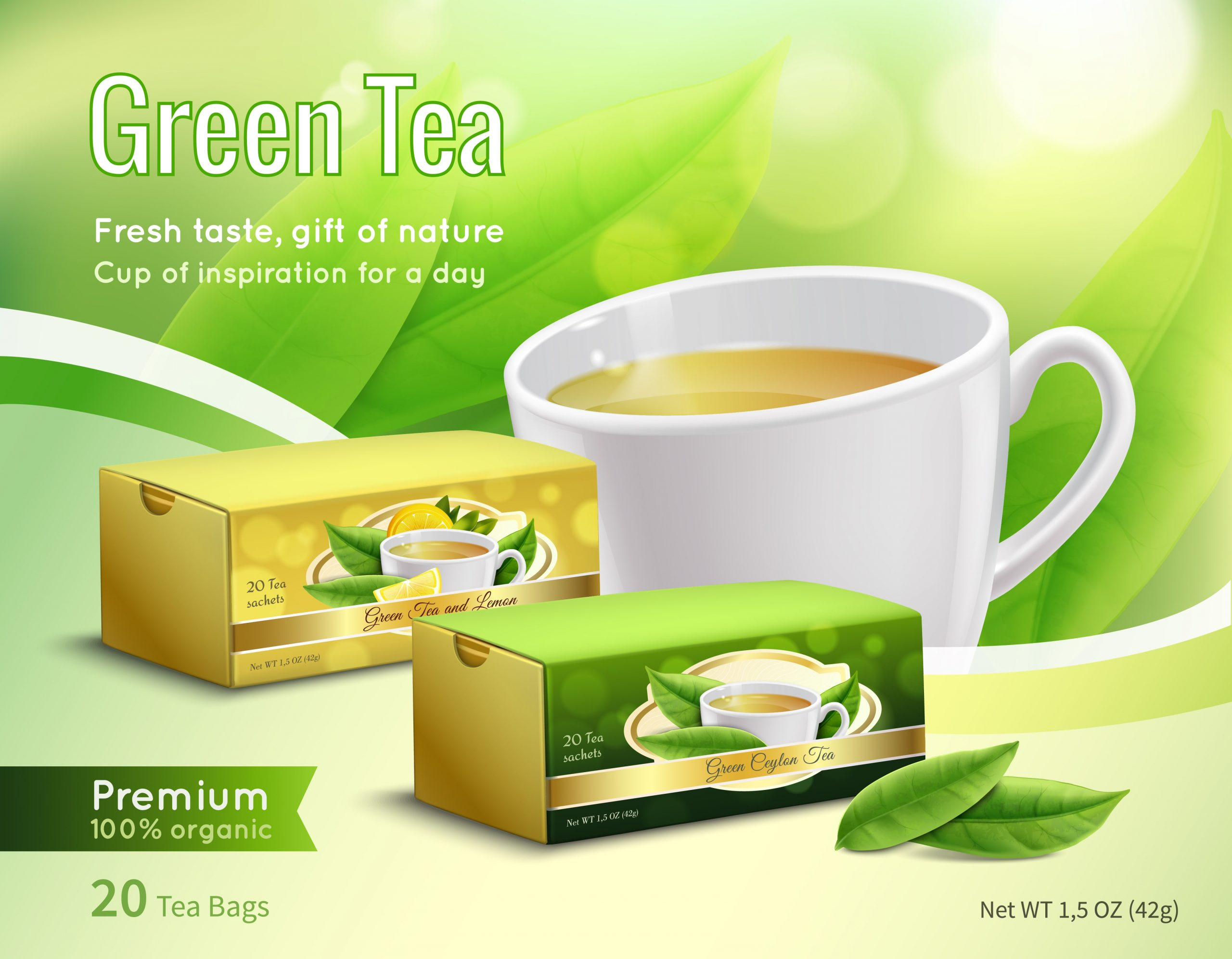 exemple de thé au citron en sachet